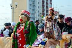 Куклы Shrovetide Стоковые Фотографии RF