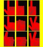 кулачки красные Стоковые Фото