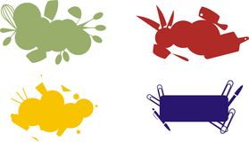 кулинарный комплект ярлыков Стоковая Фотография RF