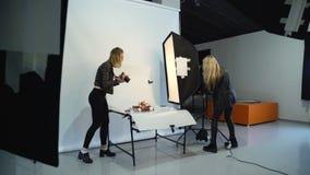 Кулуарное оборудование ассистента сыгранности фотографии сток-видео