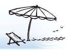 культура пляжа Стоковые Изображения RF