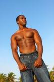 культурист изгибая мышцы высокорослые Стоковые Изображения RF