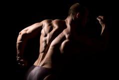 Культурист мышцы строения Close-up стоковые фотографии rf