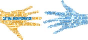 Культурное облако слова незаконного присвоения иллюстрация вектора