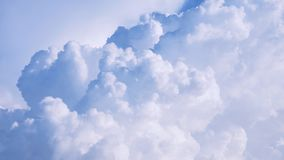 Кумулюс пушистый смог и небеса Стоковое Изображение RF