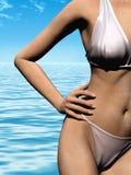 купать женщину Стоковое Изображение