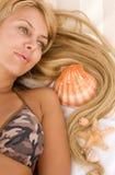 купать костюм волос девушки cockleshells Стоковая Фотография