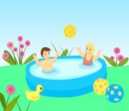 купать малышей иллюстрация штока
