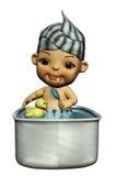 купать младенца Бесплатная Иллюстрация