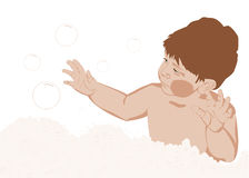 купать пузыри Стоковое фото RF