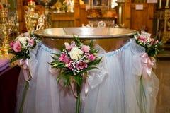 купель christening стоковое изображение