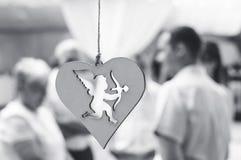Купидон в сердце соединяется Стоковое фото RF