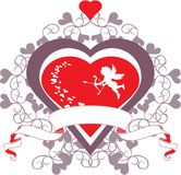 Купидон и сердце стоковые фото