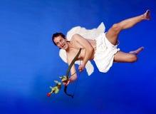 Купидон летания стоковая фотография rf