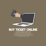 Купите билет онлайн концепцией Стоковое фото RF