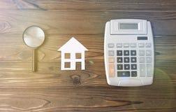 Купите вычисление дома калькулятора ипотеки Стоковое Изображение