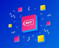 Купите значок знака Онлайн покупая кнопка фунта вектор бесплатная иллюстрация