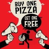 Купите одну пиццу - получите одну свободный бесплатная иллюстрация
