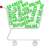 купите пойдите зеленое он-лайн Стоковое Фото