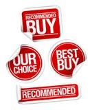 купите порекомендованные установленные стикеры Стоковая Фотография RF