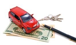 купите ренту принципиальной схемы автомобиля Стоковая Фотография RF