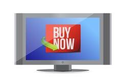 Купите теперь знак на мониторе. дизайн иллюстрации Стоковое фото RF