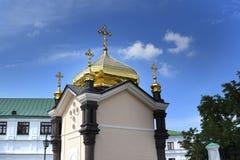 Куполки Pechersk Lavra Киев, Украин стоковые изображения