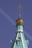 куполок contrail Стоковые Фотографии RF
