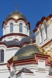 Куполы монастыря St Simon Canaanite на солнечный летний день стоковое изображение