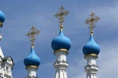 Куполы православной церков церков. Москва, Россия стоковая фотография