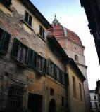 Купол базилики в Пистойя Тоскане Италии стоковое фото