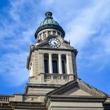 Купол башни с часами здания суда - Decorah, Айова Стоковая Фотография RF