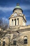Купол башни с часами здания суда - Decorah, Айова Стоковые Фото