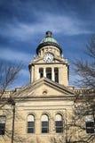 Купол башни с часами здания суда - Decorah, Айова Стоковое фото RF