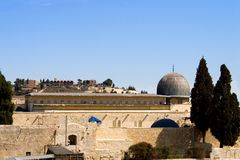купол Израиль Иерусалим aqsa al Стоковая Фотография
