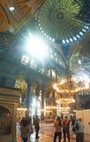 Купол интерьера Стамбула мечети Hagia Sophia стоковая фотография rf