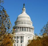 Купол капитолия Соединенных Штатов, часто вызывал Капитолий Здание стоковые изображения