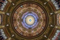Купол капитолия штата Мичиган внутренний стоковое изображение