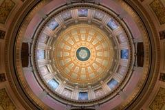 Купол капитолия штата Мичиган внутренний стоковые изображения