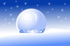 купол меньшее село снежка иллюстрация штока