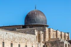 Купол мечети Aqsa Al в Иерусалиме, Израиле стоковое изображение