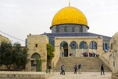 Купол святыни Иерусалима утеса исламской Стоковые Фотографии RF