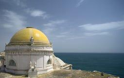 купол собора cadiz известный Стоковое Изображение