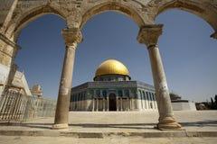 Купол утеса, Иерусалим, Израиль стоковое изображение