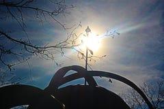 Купол церков в ваннах Stara Zagora минеральных - Болгарии во время дня в ноябре солнечного стоковая фотография