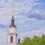Купол церков в облаках Стоковые Изображения