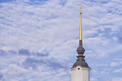 Купол церков в облаках Стоковые Фото