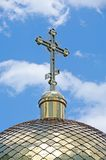 Купол церков с крестом Стоковое Фото