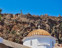 Купол церков Христоса в цепях, Monemvasia, Греции Стоковая Фотография RF