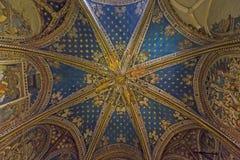 Купол часовни Сан Blas в соборе Toledo Стоковое Изображение